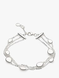 Kit Heath Triple Row Pebble Chain Bracelet Silver