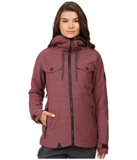686 Parklan Fortune Insulated Jacket Black Ruby Heather Women's Coat Brown