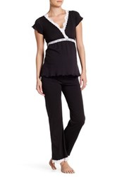 Belabumbum Ariel Maternity Nursing Cami And Pant Pj Set Maternity Black