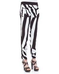 Escada Zebra Print Pull On Pants
