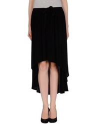 By Zoe Knee Length Skirts Black