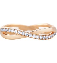 De Beers Infinity Pink Gold And Pave Diamond Ring