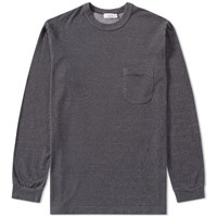 Nanamica Long Sleeve French Terry Pocket Tee Grey