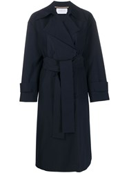 Harris Wharf London Oversized Double Breasted Trench Coat 60