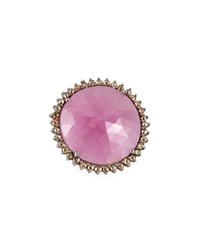 Bavna Pink Sapphire And Diamond Cocktail Ring Women's