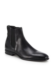 Aquatalia By Marvin K Adrian Leather Chelsea Boots Black