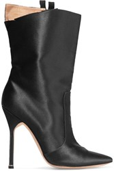Vetements Manolo Blahnik Cutout Satin Boots Black