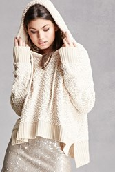 Forever 21 Hooded Popcorn Knit Sweater