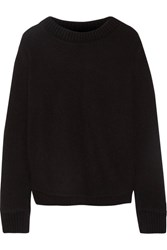 The Elder Statesman Appliqued Cashmere Sweater Black