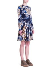 Stella Mccartney Color By Number Cat Print Dress Ink Multi