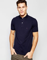 Tommy Hilfiger Polo In Slim Fit In Navy Navy