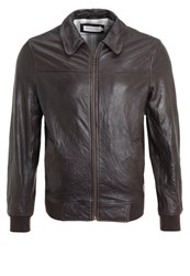 Pier One Leather Jacket Brown