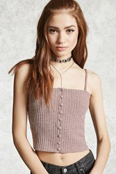 Forever 21 Ribbed Button Front Cami