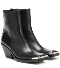 Acne Studios Leather Ankle Boots Black