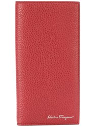 Salvatore Ferragamo Continental Logo Wallet Calf Leather Red