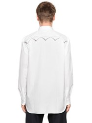 Comme Des Garcons Shirt Padded Triangles Cotton Poplin Shirt