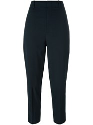 Vince Tapered Cropped Trousers Blue