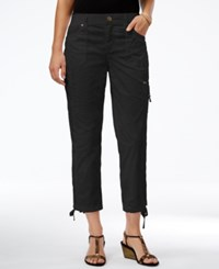 Styleandco. Style Co. Cropped Slim Fit Pants Only At Macy's Deep Black