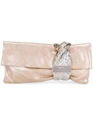 Jimmy Choo Chandra Clutch Nude Neutrals