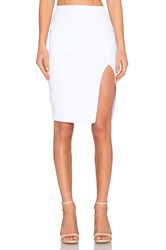 Donna Mizani Side Slit Midi Skirt White