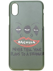 Haculla Never Tell Your Plans To A Stranger Iphone X Case Green