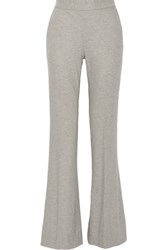 Oscar De La Renta Wool Blend Wide Leg Pants Gray