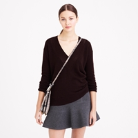 J.Crew Collection Cashmere Pointelle V Neck Sweater