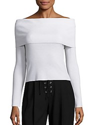 A.L.C. Monica Off The Shoulder Sweater White