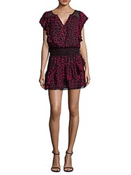 Ella Moss Smocked Waist Ruffle Dress Hollyberry