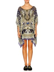 Camilla Chinese Whispers Short Silk Caftan A Little Past