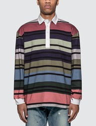J.W.Anderson Jw Anderson Striped Rugby Jersey Long Sleeve Polo Shirt Green