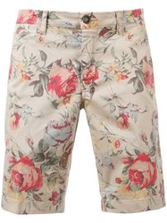 Re Hash Floral Shorts Men Cotton Spandex Elastane 31 Nude Neutrals