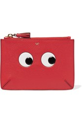 Anya Hindmarch Loose Pocket Embossed Textured Leather Pouch One Size