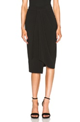 Christopher Esber Draped Wrap Crepe Skirt In Black
