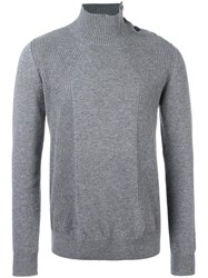 Paolo Pecora High Neck Jumper Grey