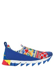 Dolce And Gabbana 30Mm Printed Neoprene Suede Sneakers