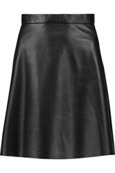 Muubaa Pannala Leather Mini Skirt Black