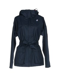 K Way Overcoats Dark Blue