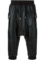 Unconditional Coated Drop Crotch Shorts Black