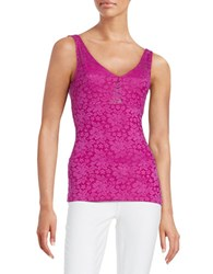 Guess Lace Tank Top Fuchsia