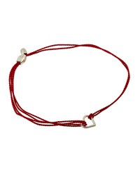 Alex And Ani Kindred Pull Cord Bracelet W Heart Silver Red Silver