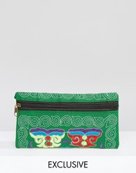 Reclaimed Vintage Embroidered Clutch Bag Multi