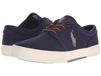 Polo Ralph Lauren Faxon Low Newport Navy Basic Grey Canvas Men's Lace Up Casual Shoes