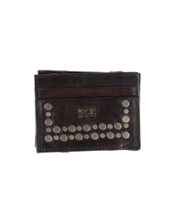Replay Small Leather Goods Document Holders Men Dark Brown