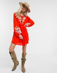 Free People Put A Spell On You Mini Dress In Red