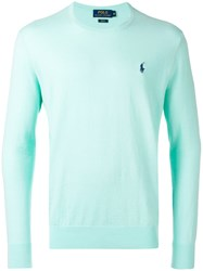 Ralph Lauren Embroidered Logo Jumper Green