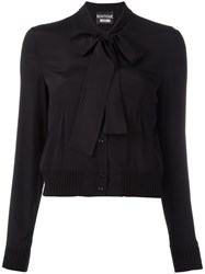 Boutique Moschino Pussy Bow Collar Shirt Black