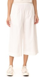 Madewell Smocked Mayfield Culotte Pants White Wash