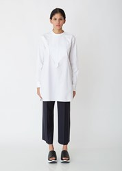 Jil Sander Saturday Cotton Poplin Shirt White