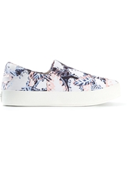 Opening Ceremony Leaf Print Slip On Sneakers Blue